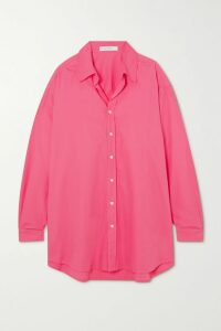 Opening Ceremony - Shell-trimmed Logo-print Cotton-terry Hoodie - Black