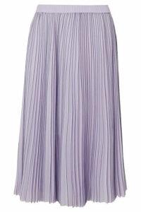 Jason Wu - Pleated Striped Georgette Midi Skirt - Lilac