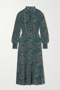 Gucci - Grosgrain-trimmed Wool-blend Coat - Navy