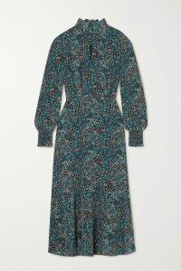 Gucci - Grosgrain-trimmed Wool-blend Coat - Navy