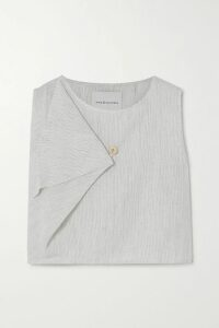 Antonio Berardi - Folded Checked Wool And Mohair-blend Dress - Red