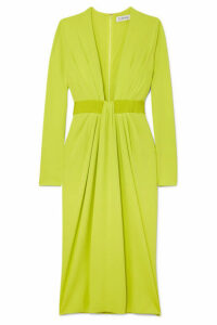 Cushnie - Draped Stretch-jersey Midi Dress - Yellow