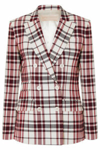 Antonio Berardi - Checked Wool And Mohair-blend Blazer - Red