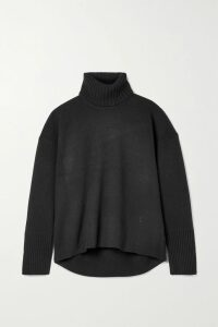 ALEXACHUNG - Belted Suede Coat - Brown