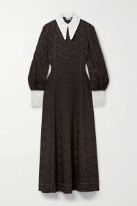 Loewe - Tie-front Leather-trimmed Linen-blend Coat - Sand