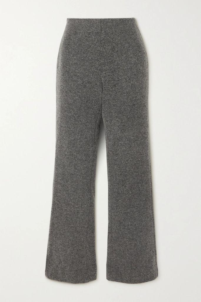 Oscar de la Renta - Embellished Silk-chiffon Gown - Black