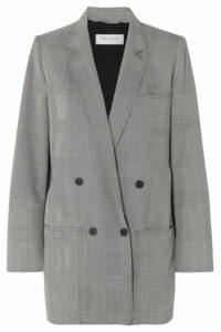 Max Mara - Oxford Oversized Double-breasted Prince Of Wales Checked Wool Blazer - Gray