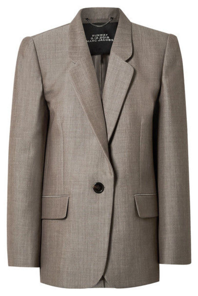Marc Jacobs - Oversized Wool And Mohair-blend Blazer - Gray