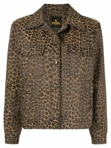 Fendi Pre-Owned leopard jacquard jacket - Brown