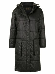 Fendi Pre-Owned long padded coat - Black