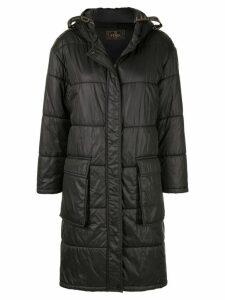 Fendi Pre-Owned long padded coat - Black