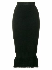 Christian Dior Pre-Owned knitted midi skirt - Black