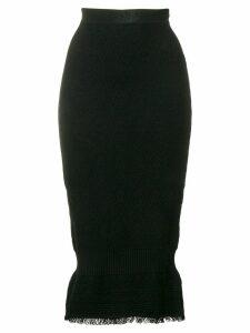 Christian Dior Pre-Owned knitted midi skirt - Black