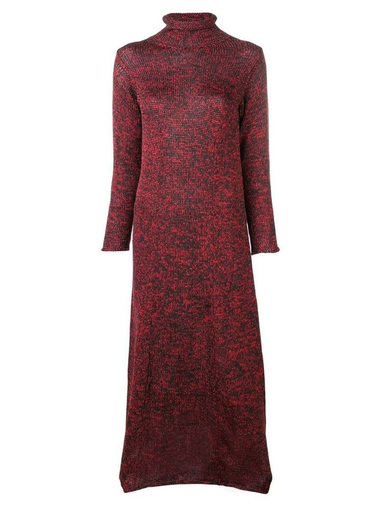 Yohji Yamamoto Vintage turtleneck knitted dress - Red