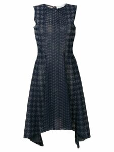 Christian Dior Pre-Owned houndstooth knit dress - Blue