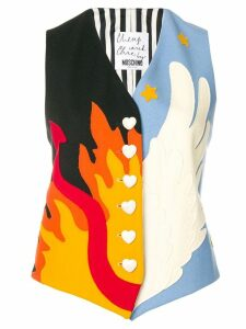MOSCHINO PRE-OWNED Heaven and Hell appliqué waistcoat - Black