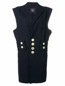 Yohji Yamamoto Pre-Owned sleeveless blazer dress - Blue