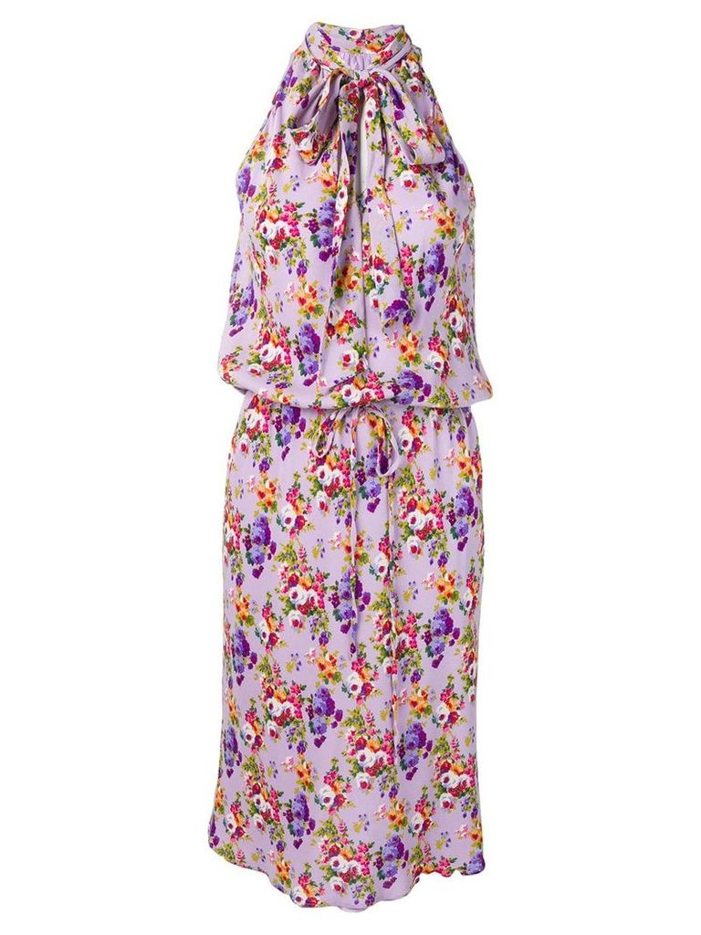 Moschino Vintage floral halter dress - Purple