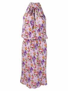 Moschino Pre-Owned floral halter dress - Purple