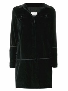 HELMUT LANG PRE-OWNED velvet coat - Black