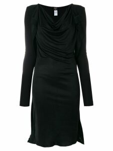Jean Paul Gaultier Pre-Owned draped midi dress - Black