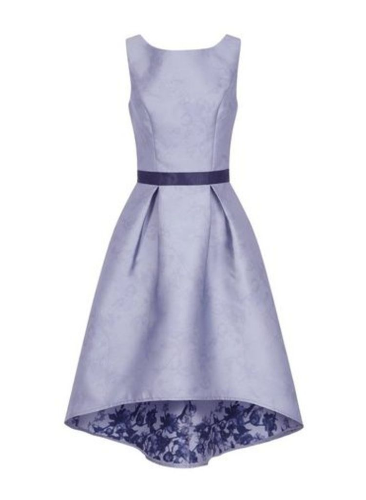 Womens *Chi Chi London Blue Dip Hem Midi Skater Dress- Blue, Blue