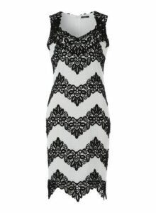 Womens *Roman Originals White Zig Zag Lace Dress- White, White