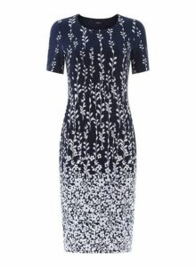 Womens *Roman Originals Floral Print Shift Dress- Blue, Blue