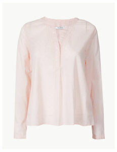 M&S Collection Pure Cotton Textured Blouse