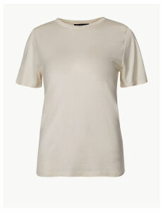 M&S Collection PETITE Round Neck Regular Fit T-Shirt