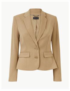 M&S Collection Tailored Button Cuff Blazer