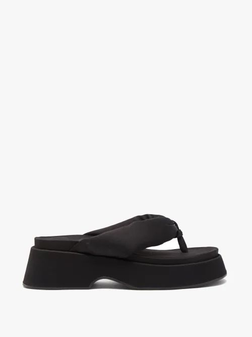 The Row - Tipet Tie Neck Silk Blend Blouse - Womens - Navy