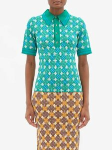 Emilia Wickstead - Sheila Panelled Cloqué Midi Dress - Womens - Pink