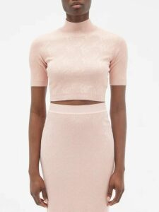 Brock Collection - Orsman Hammered Satin Peplum Top - Womens - Pink