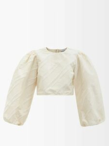 Borgo De Nor - Margot Animal Kingdom Print Cotton Dress - Womens - Green White