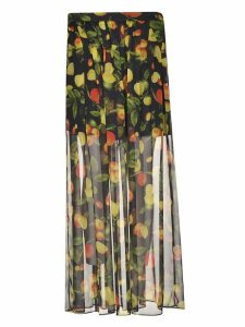 Msgm Botanical Print Skirt