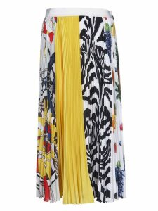 MSGM Printed Detail Pleated Skirt