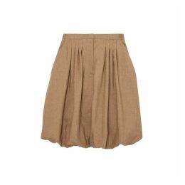 Burberry Linen Blend Bubble Hem Skirt