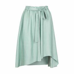 Opportuno Sterre Asymmetric Satin Skirt