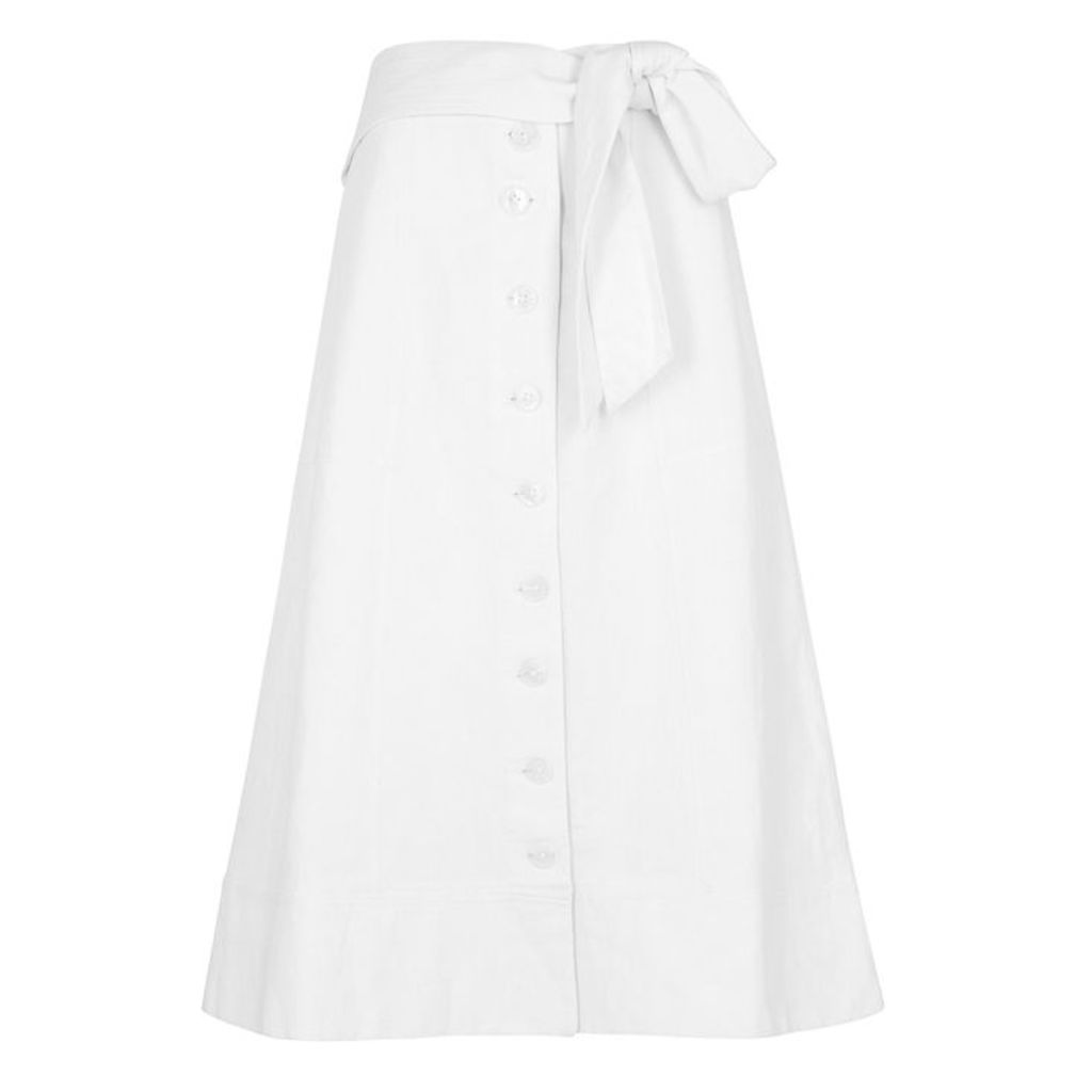 Sea NY Izzi Cotton And Linen-blend Midi Skirt