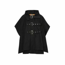 Burberry Triple Buckle Cotton Gabardine Cape Coat