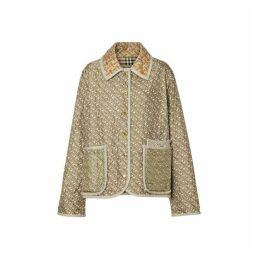 Burberry Monogram Print Quilted Silk Jacket