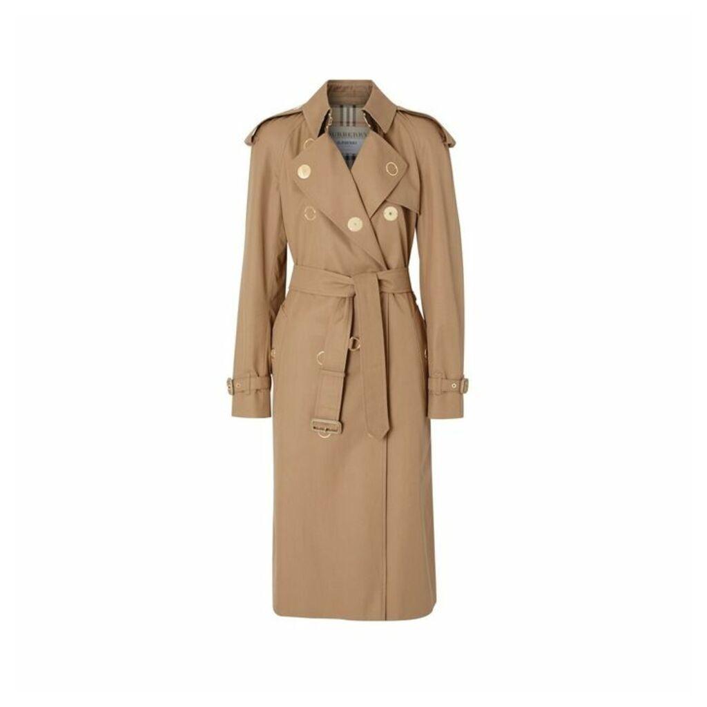Burberry Press-stud Detail Cotton Gabardine Trench Coat