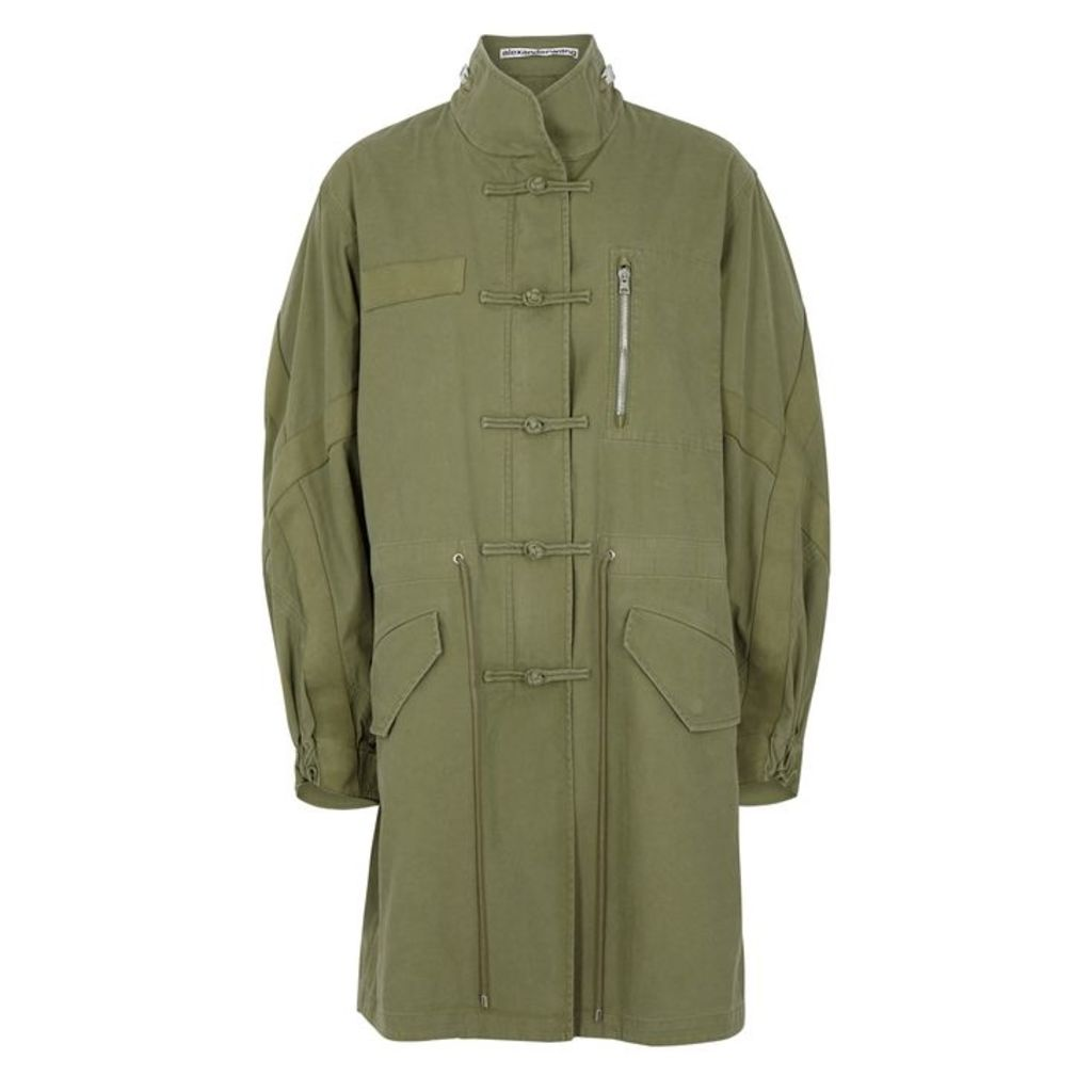 Alexander Wang Washed Workwear Army Green Cotton Jacket
