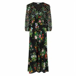 RIXO Bonnie Floral-print Silk Dress