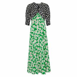 RIXO Martha Printed Silk Dress