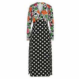 RIXO Gretal Printed Silk Dress