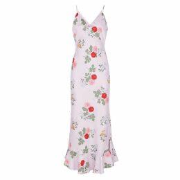 KEEPSAKE Pretty Once Floral-print Satin Maxi Dress
