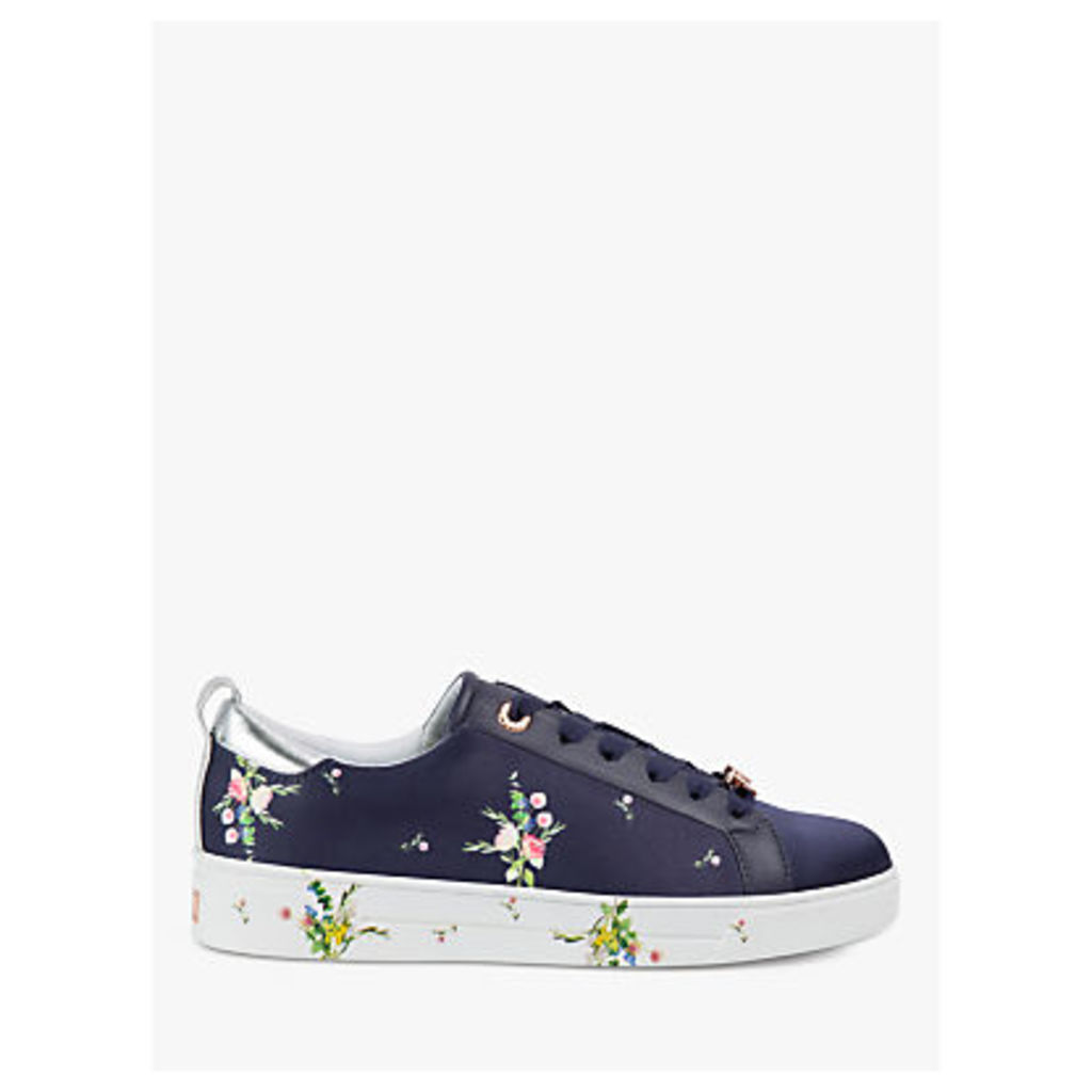 Ted Baker Rialy Lace Up Trainers, Navy Leather