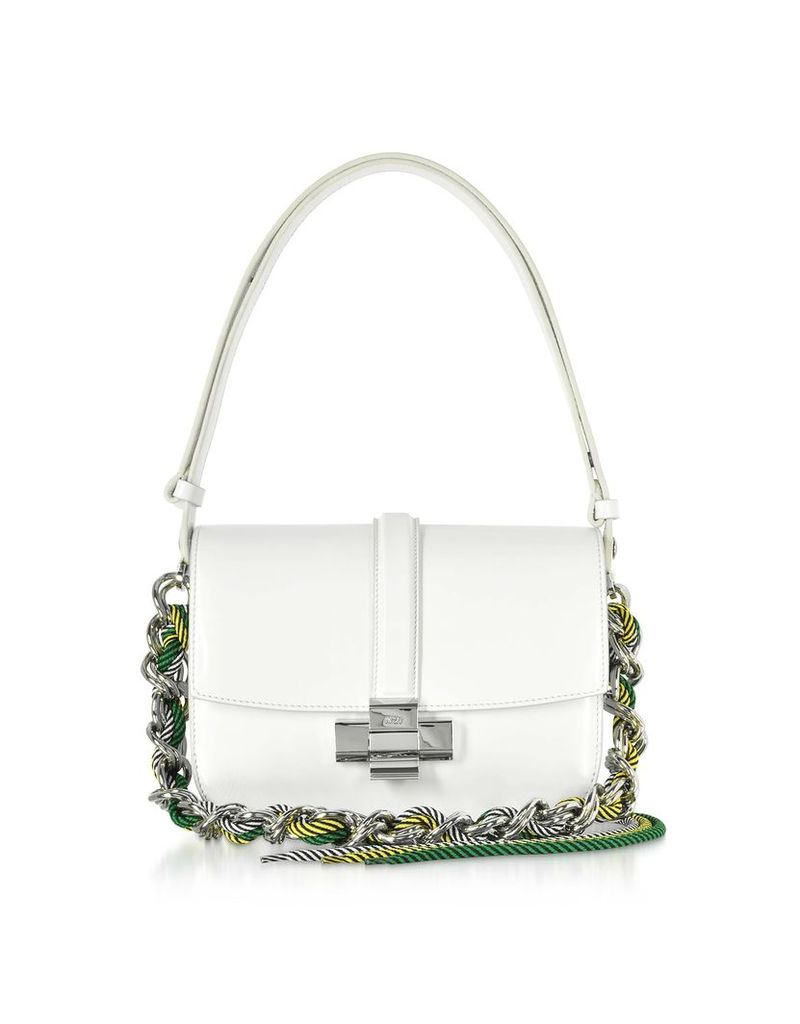 N°21 White Leather Lolita Bag